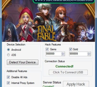 Final Fable Hack Tool Gems Gold Adder Cheats