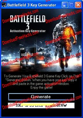 Battlefield 3 Crack and Activation Key Generator For PC