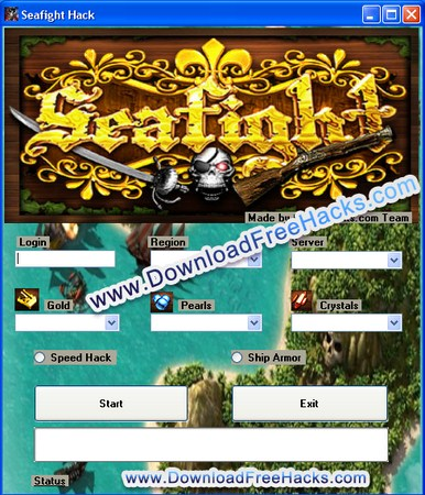 Seafight Hack Gold Crystals Pearls Cheat Tool