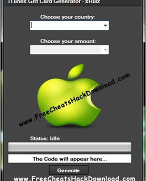 iTunes Gift Card Generator Tool Updated