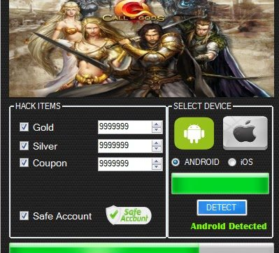 Call Of Gods Hack Tool Gold, Silver and Coupons
