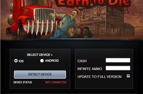 Earn to Die Hack Tool Unlimited Cash and Infinite Ammo