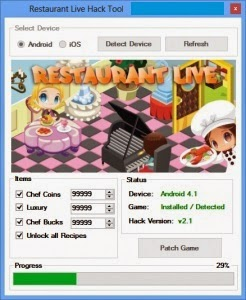 Restaurant Live Hack Tool (Android iOS) unlimited Chef Bucks