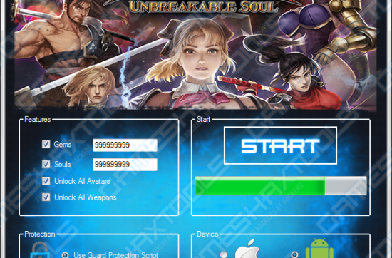 Soulcalibur Unbreakable Soul Hack Tool (Android, iOS)