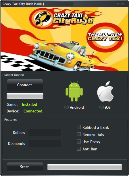 Crazy Taxi City Rush Hack Tool Free Download