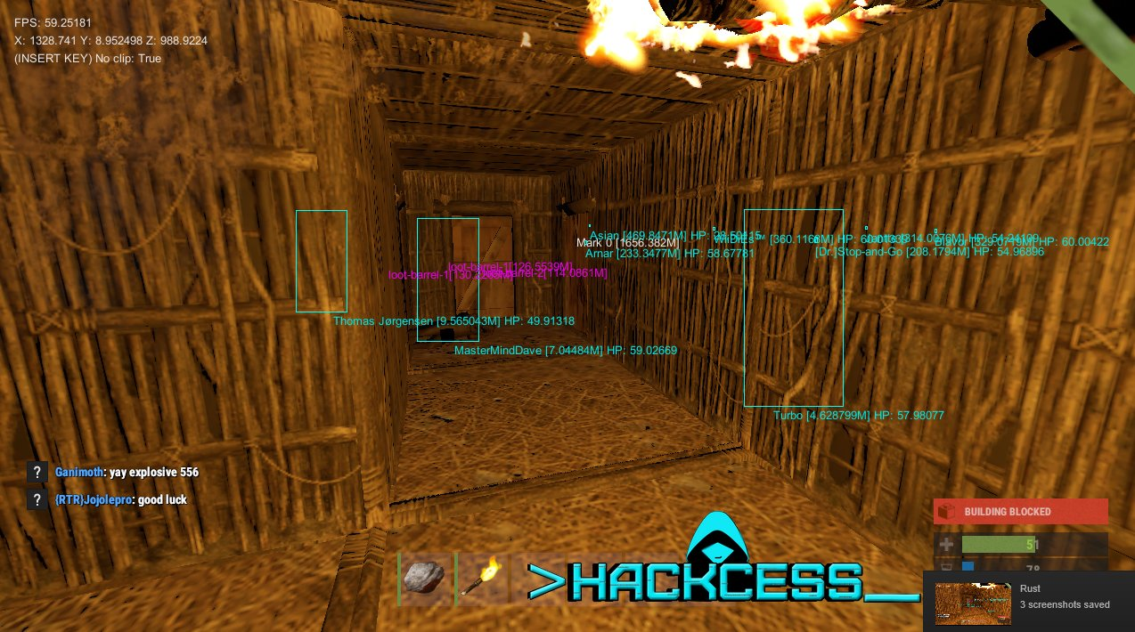 Rust Hack : Undetected Cheat – Wallhack – Aimbot – Items spawner