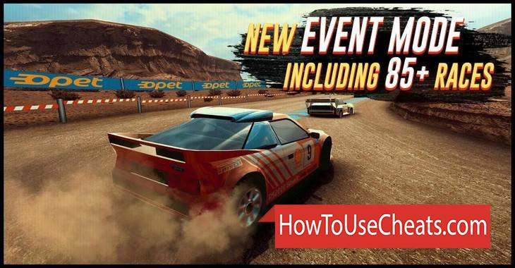 Rally Racer EVO how to use Cheat Codes and Hack Coins